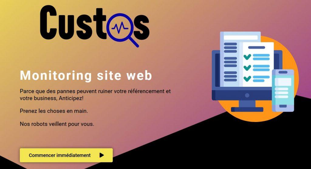 Custos, solution de monitoring de sites web gratuite