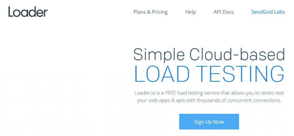 loaderio monitoring de site web