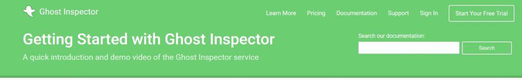 Ghost Inspector, extension chrome de surveillance web manuelle