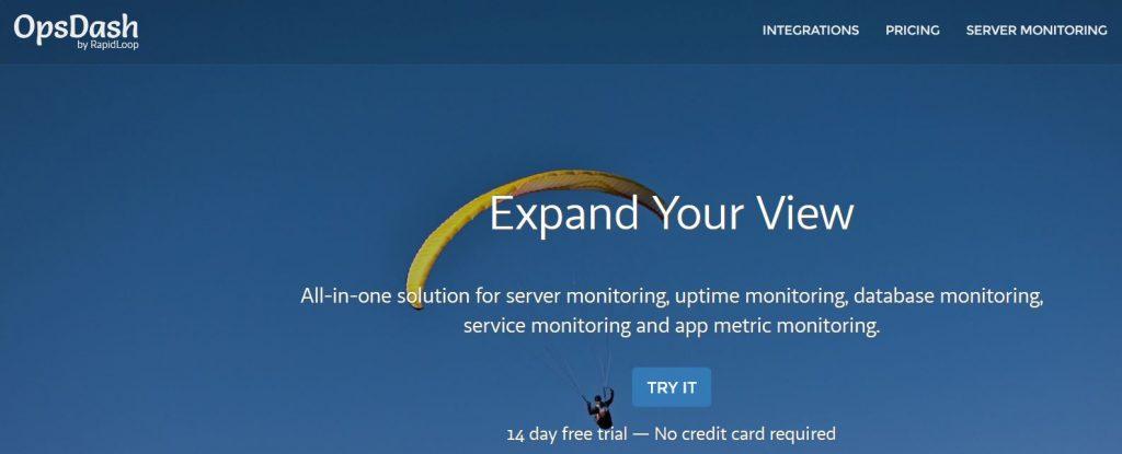 opsdash monitoring web